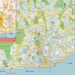Lisbon Map Visitor Information For Tourists Showing Must