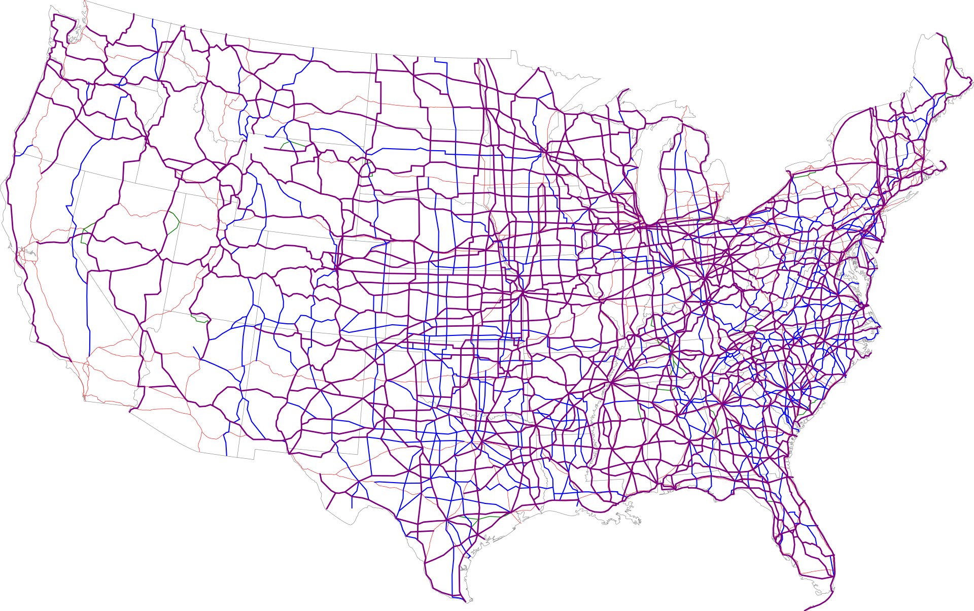 List Of United States Numbered Highways Wikipedia