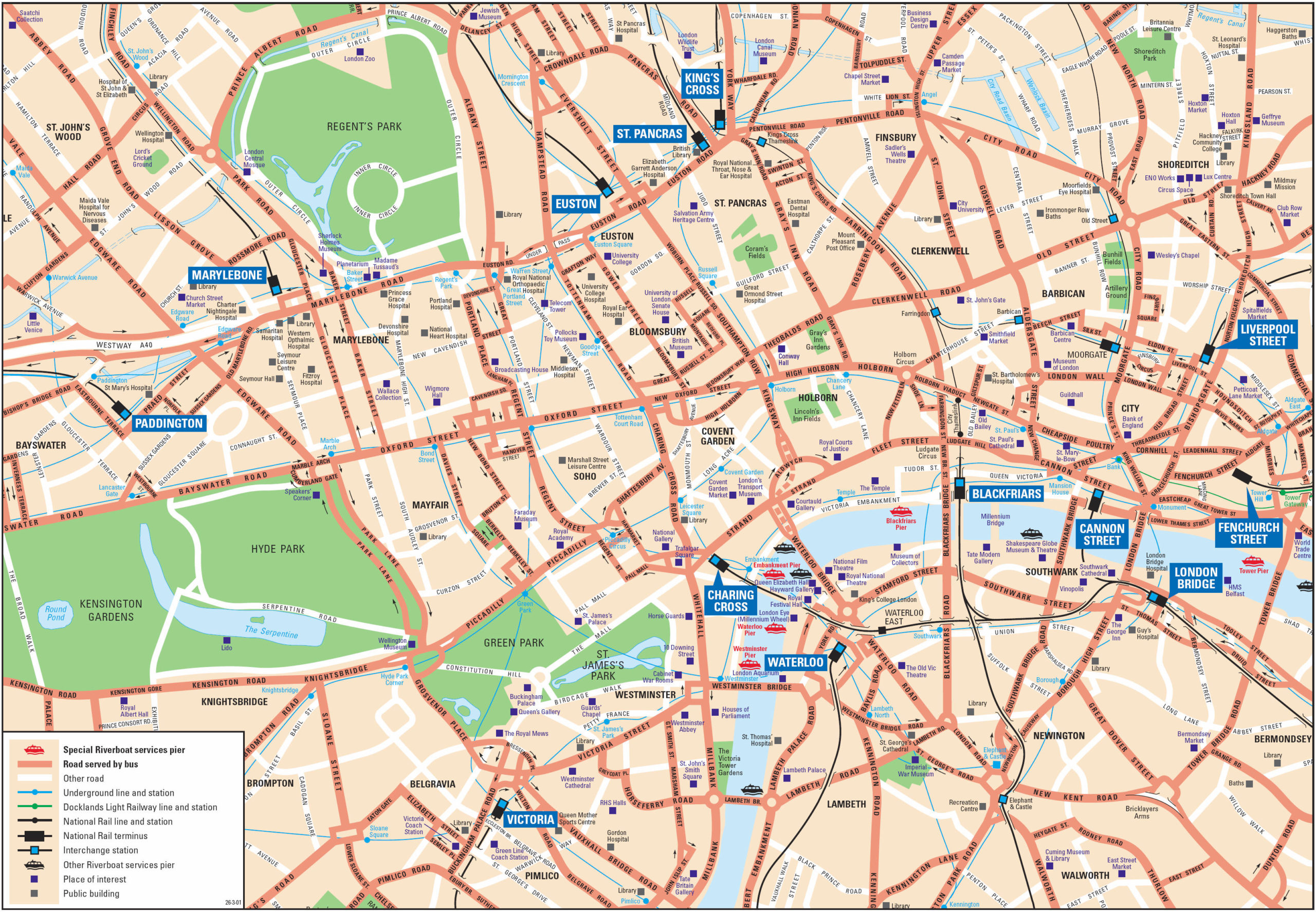 London Attractions Map PDF FREE Printable Tourist Map