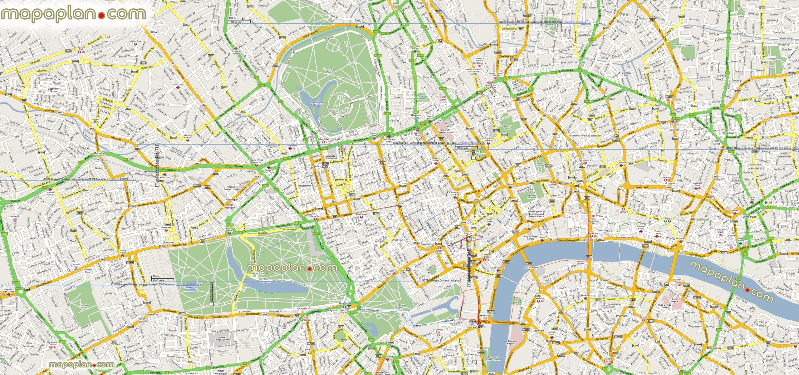 London Map Google Maps Offline Mashup Map To Print