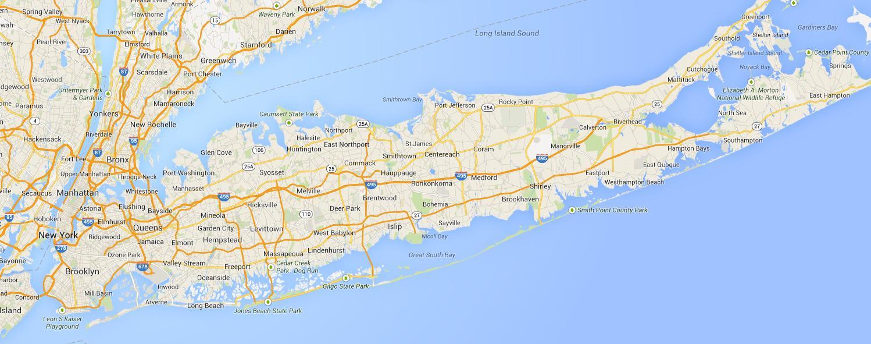 Long Island Beaches Map Map Of Long Island Beaches Ny