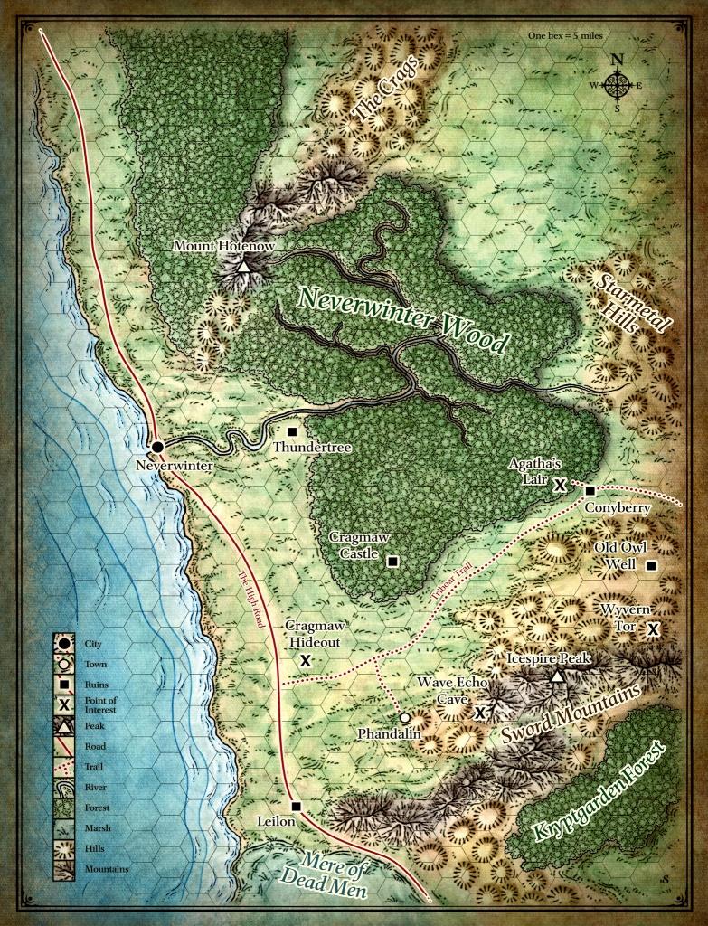 Lost Mine Of Phandelver Printable Maps Printable Maps