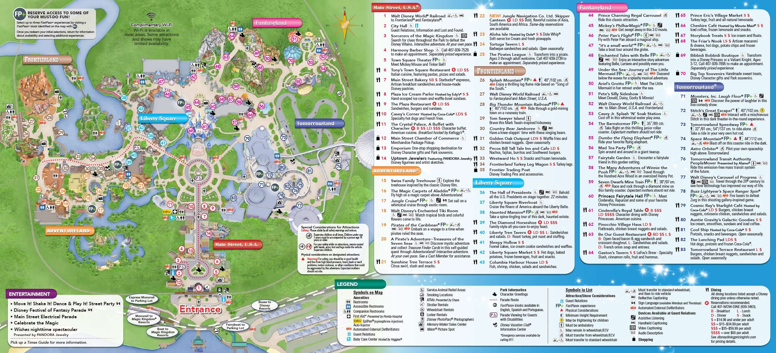 Magic Kingdom Park Map And Links To Other DW Park Maps