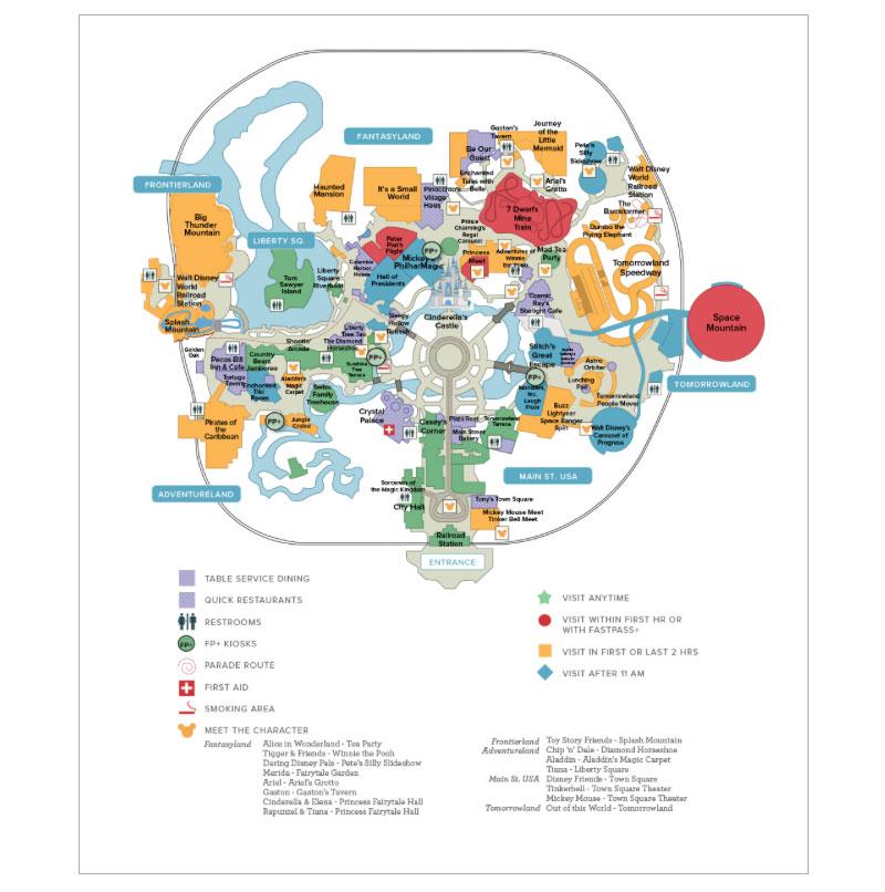 Magic Kingdom Printable Map That Are Handy Derrick Website