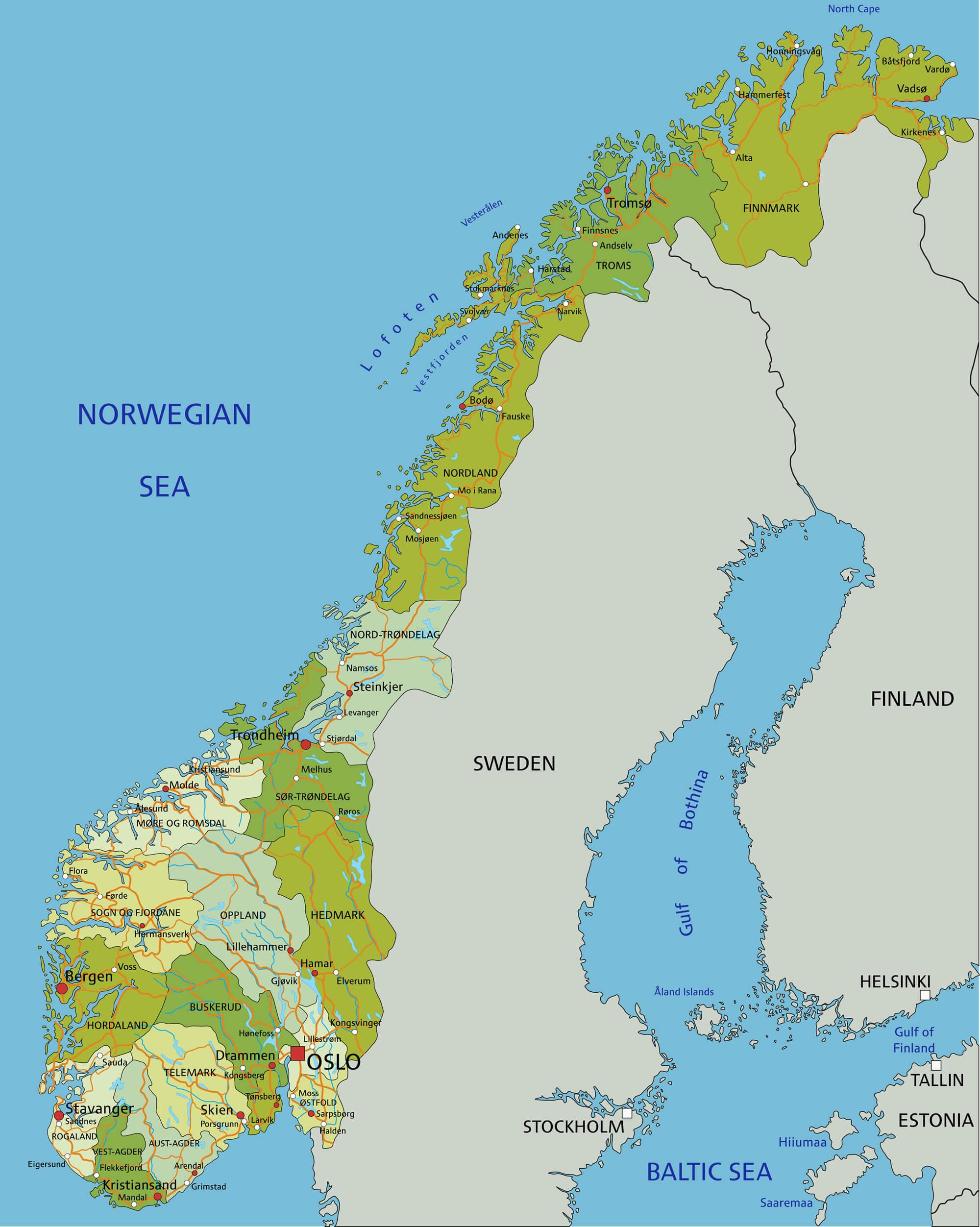 Map Norway