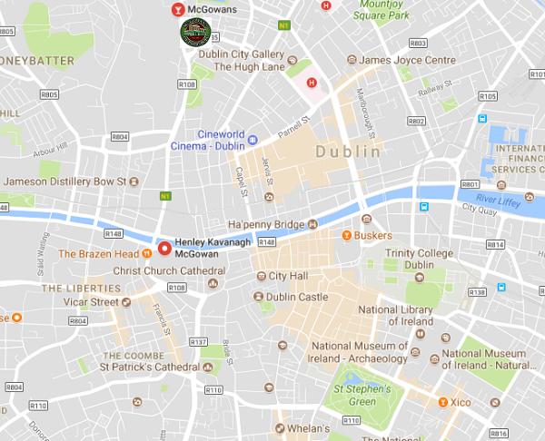 Map Of Dublin City Centre Maps For You