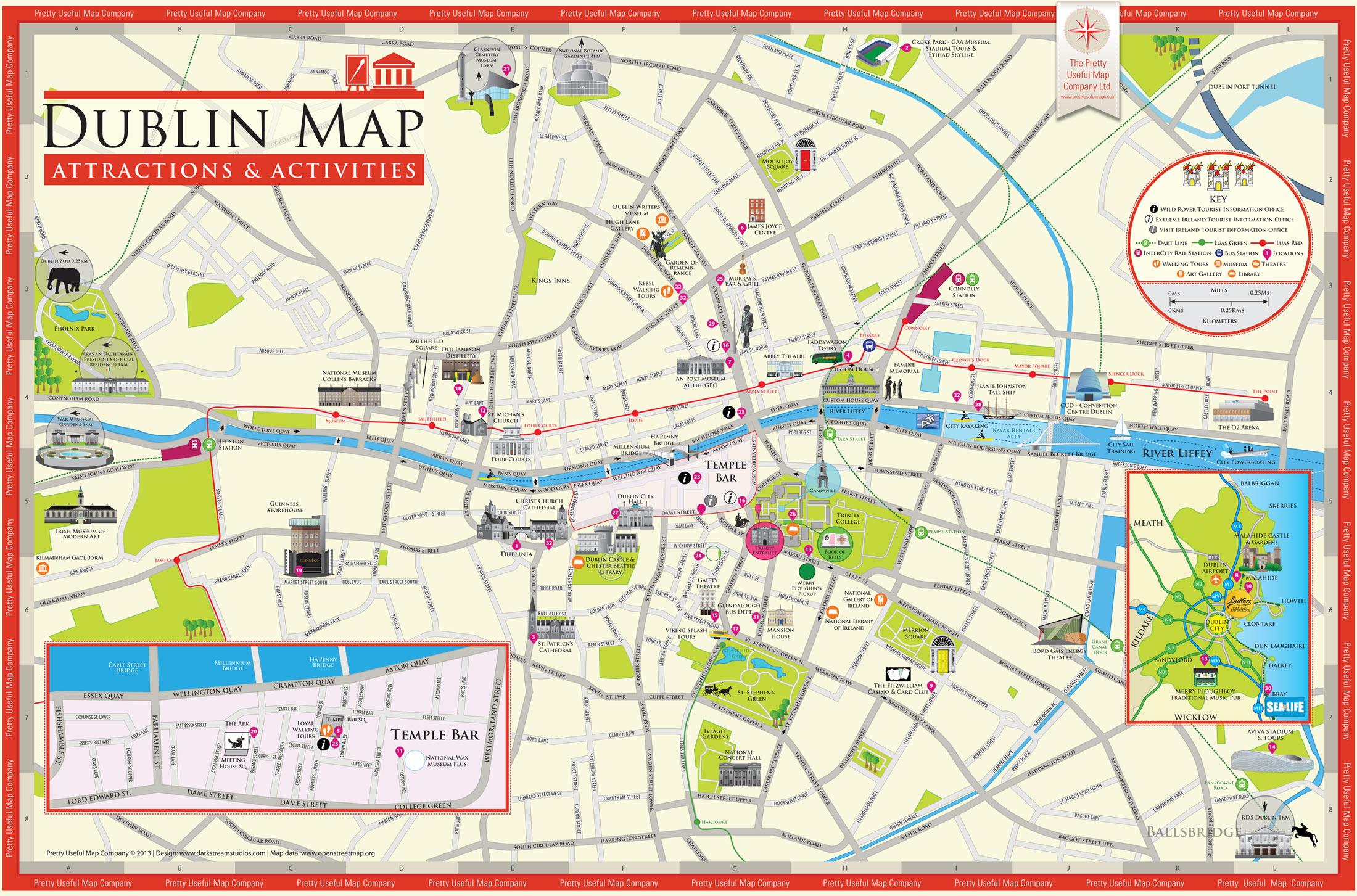Map Of Dublin City Centre