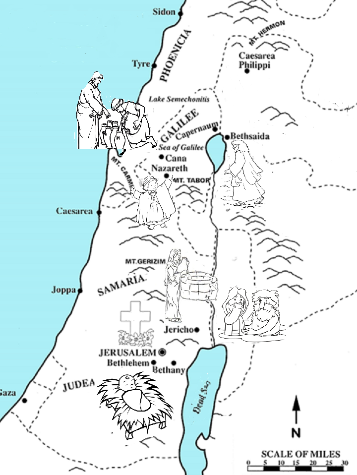 Map Of Israel Where Jesus Walked Bible Study For Kids