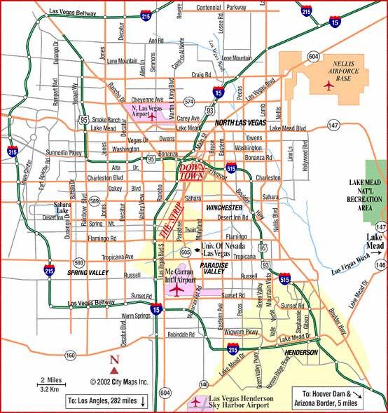 Map Of Las Vegas Free Printable Maps