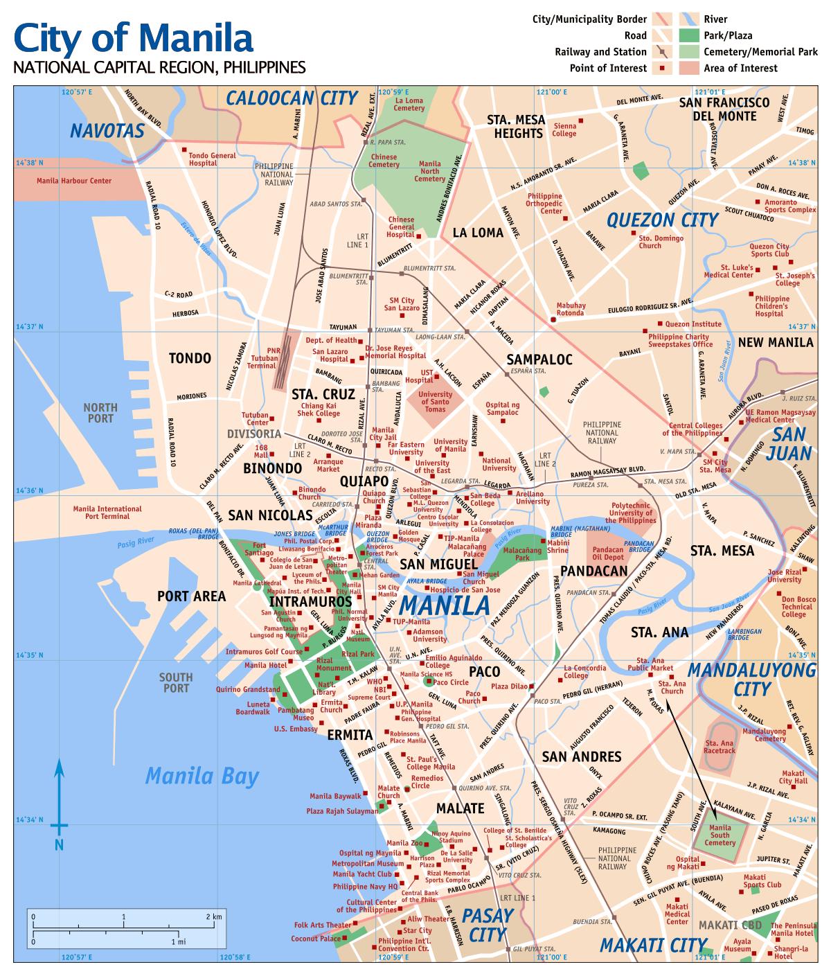 Map Of Manila Mapsof