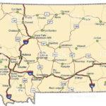 Map Of Montana Free And Printable