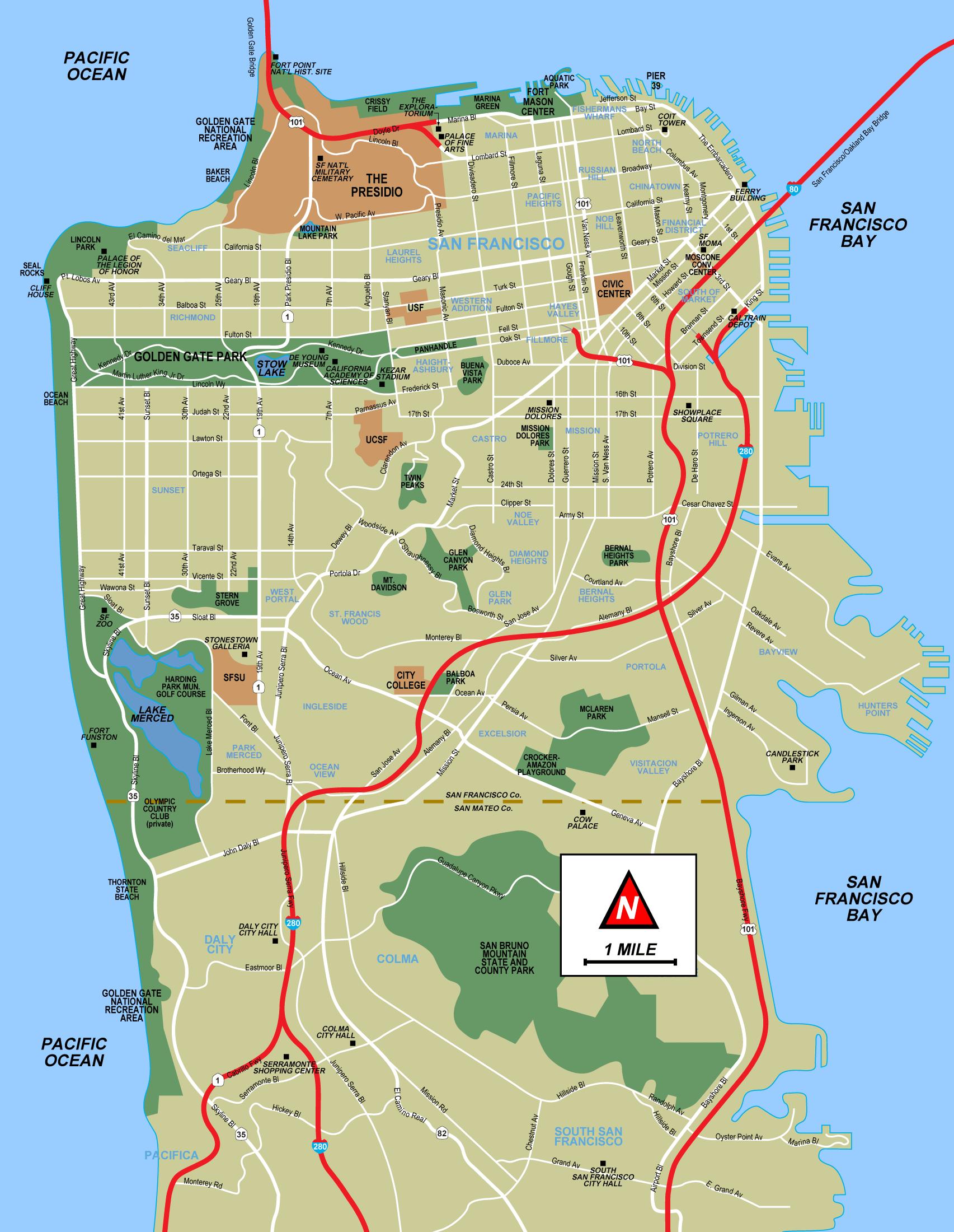 Map Of San Francisco Mapsof