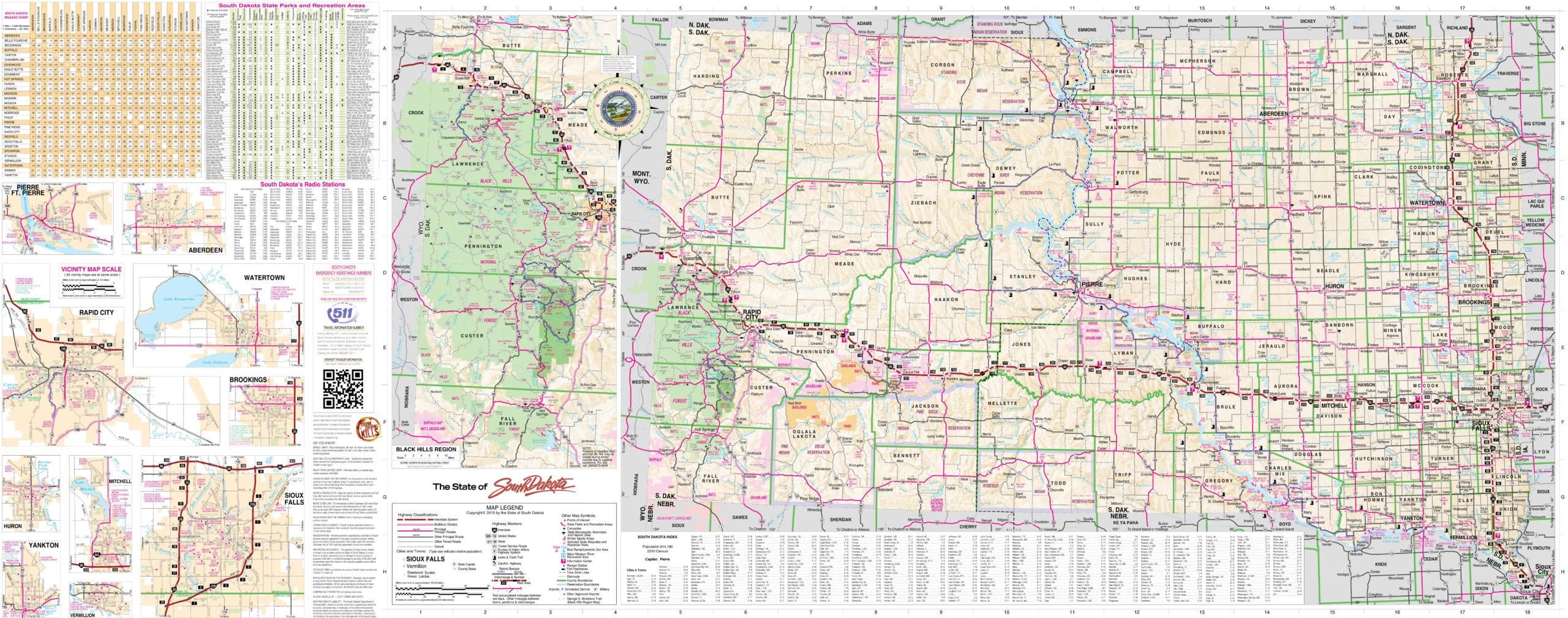 Map Of South Dakota Full Size Gifex