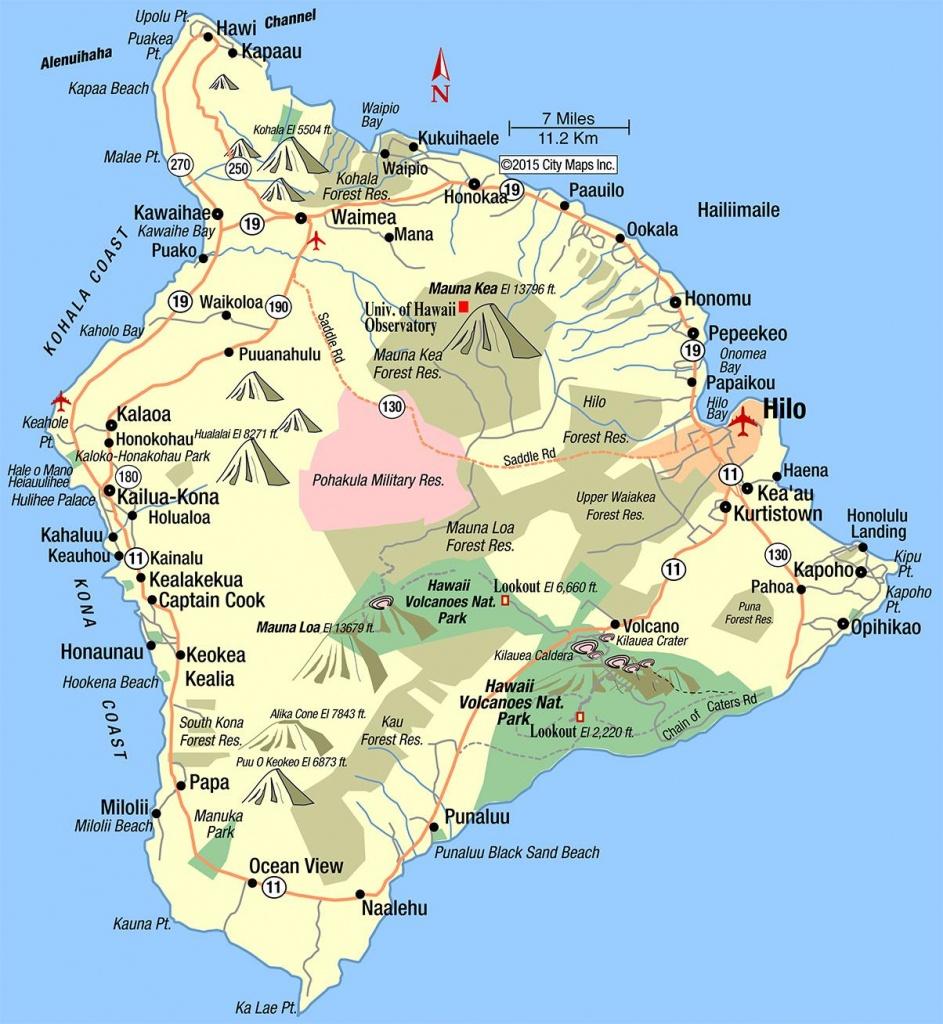 Map Of The Big Island Hawaii Printable Printable Maps