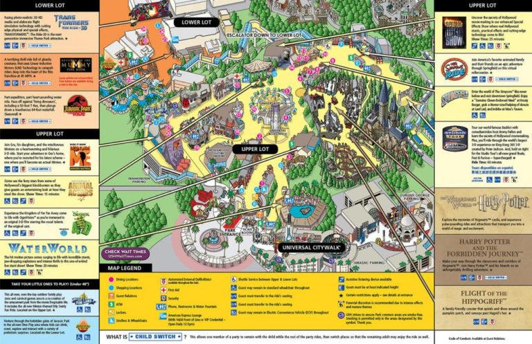 Map Of Universal Studios Hollywood Compressportnederland