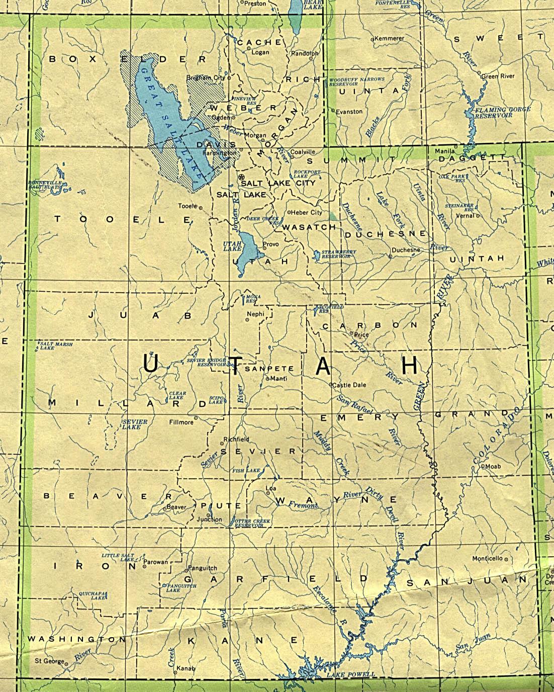 Map Of Utah Political Map Worldofmaps Online