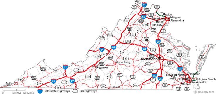 Map Of Virginia Cities Virginia City Virginia Map
