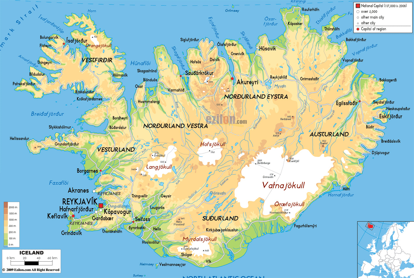 Maps Of Iceland Detailed Map Of Iceland In English