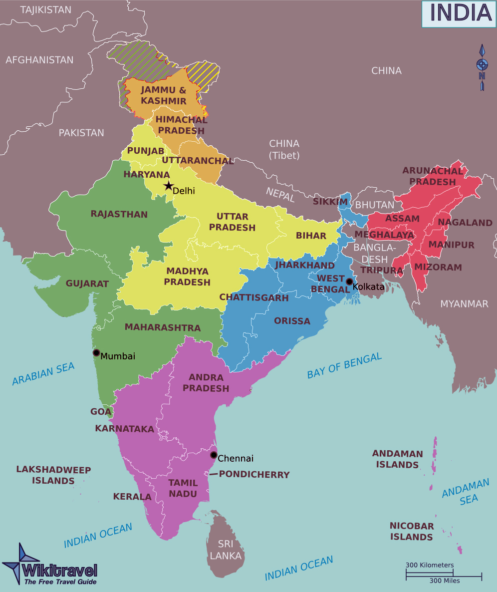 Maps Of India Detailed Map Of India In English Tourist