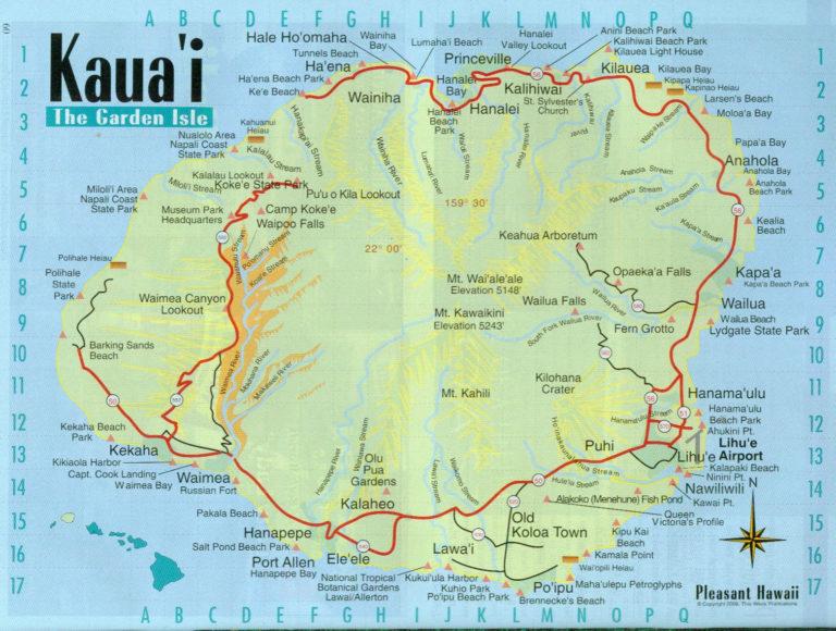 Maps Of Kauai 16 KauaiMap jpg Kauai Map Kauai Kauai
