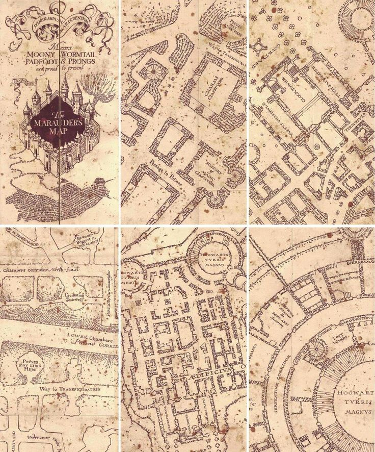 Marauders Map Harry Potter Marauders Map Harry Potter