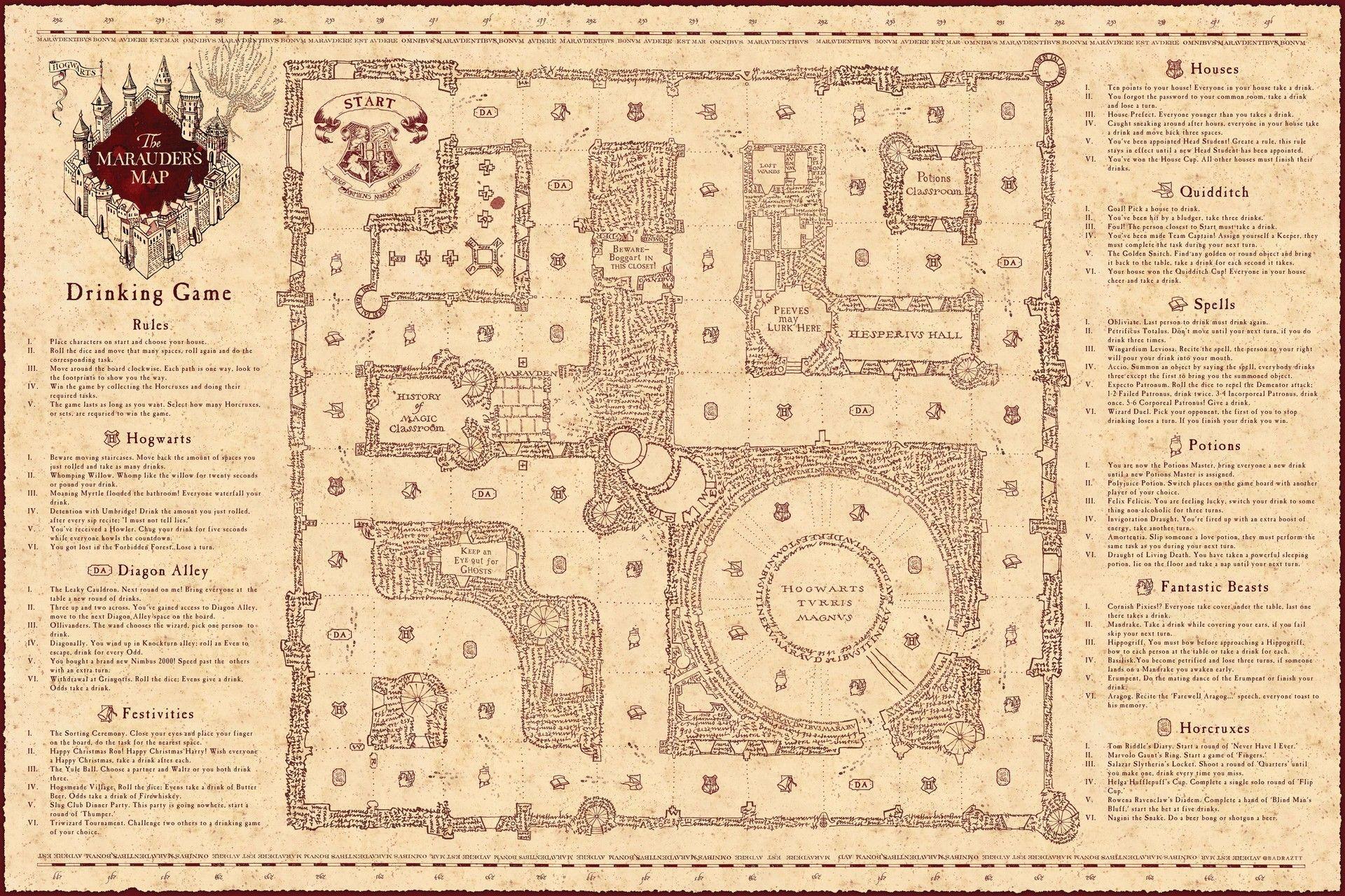 Marauders Map Wallpapers Wallpaper Cave