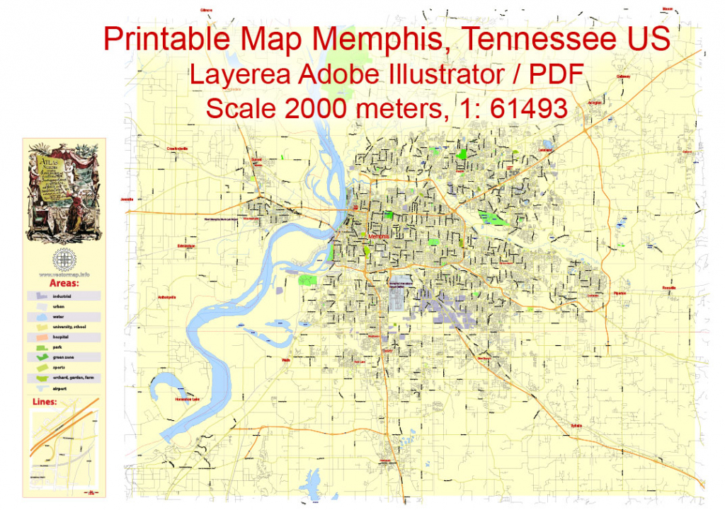Memphis City Map Printable Printable Maps