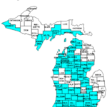 Michigan Counties Visited with Map Highpoint Capitol