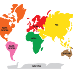 Montessori Geography World Map And Continents Gift Of