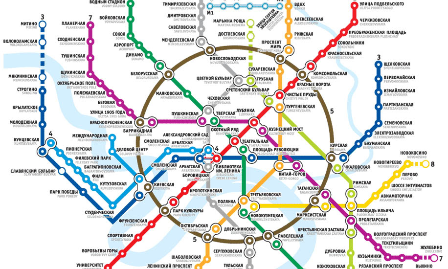 Moscow Metro Map Free Printable Maps
