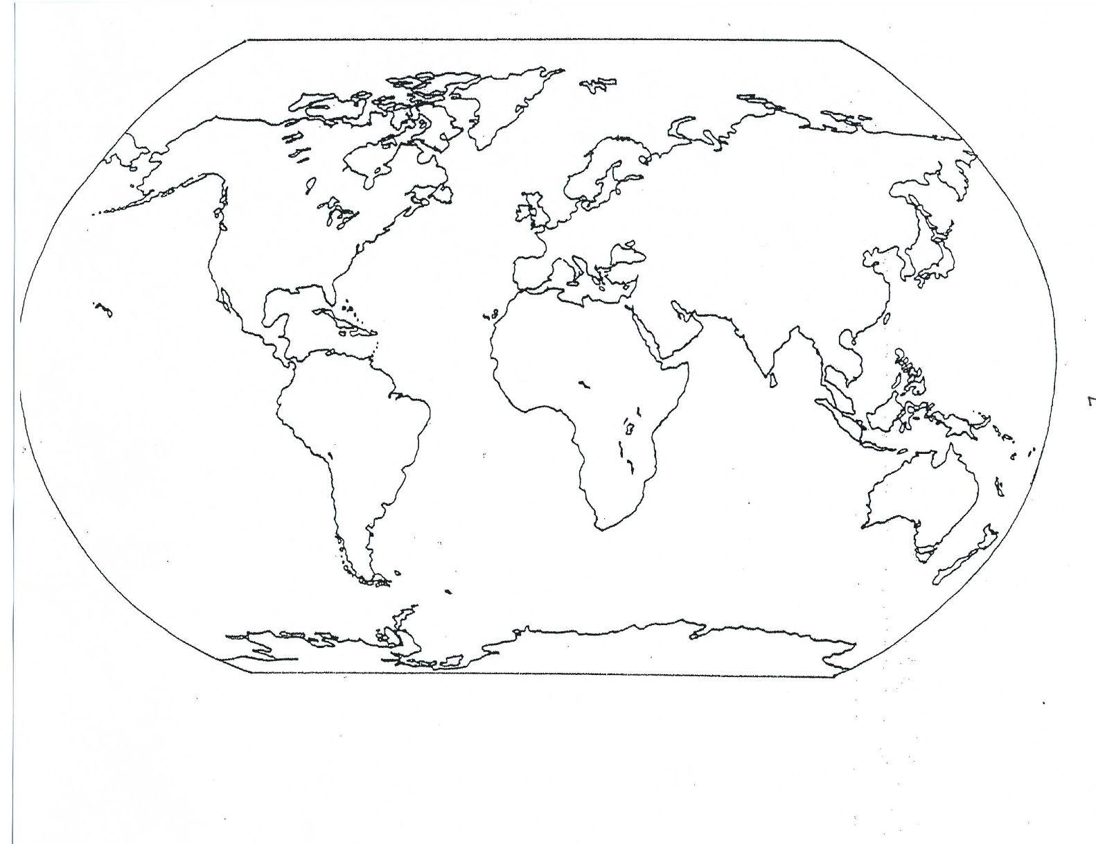Mr Guerriero s Blog September 2011 Blank World Map