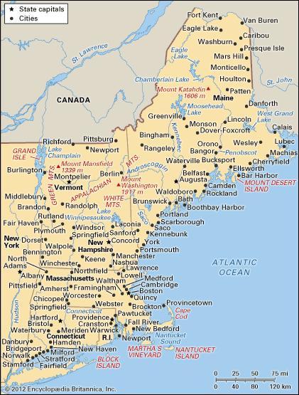New England Region United States Britannica