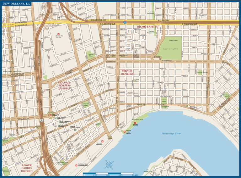 New Orleans Downtown Map Digital Creative Force