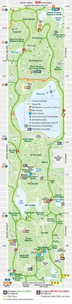 New York Central Park Map With Printable Map Of Central