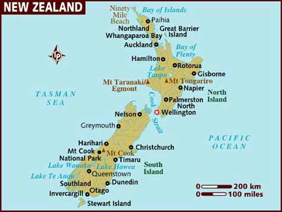 New Zealand Maps Printable Maps Of New Zealand For Download
