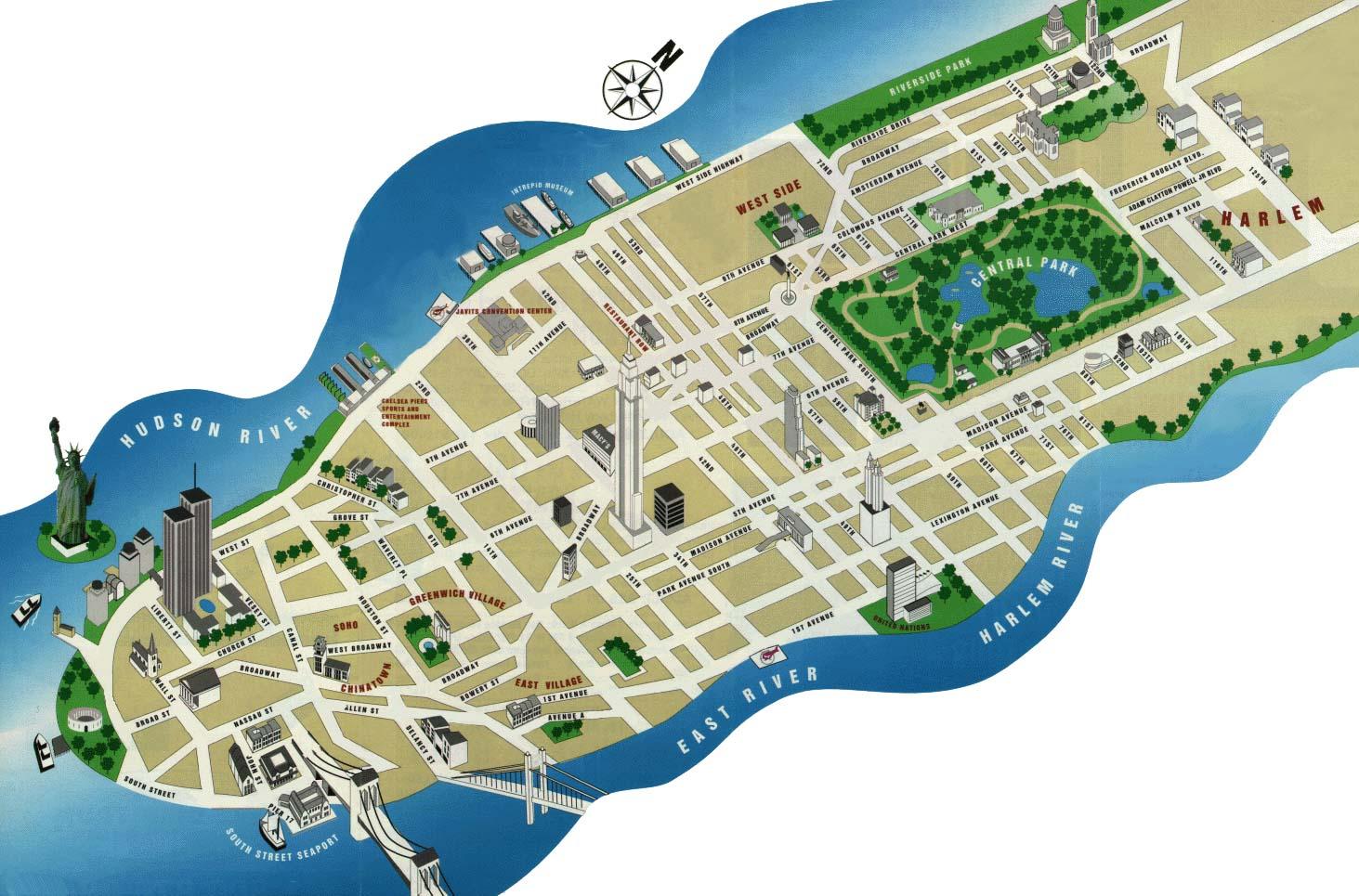 NYC Tourist Maps Printable New York City Map NYC Tourist