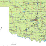 Oklahoma State Route Network Map Oklahoma Highways Map