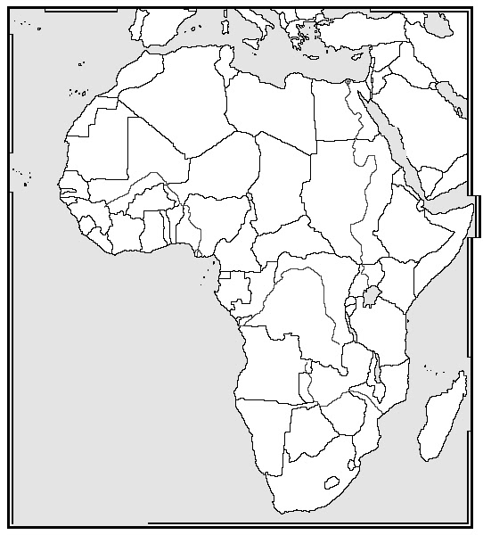 Online Maps Blank Africa Map