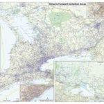 Ontario Postal Code FSA Map Ontario Postcode FSA Map