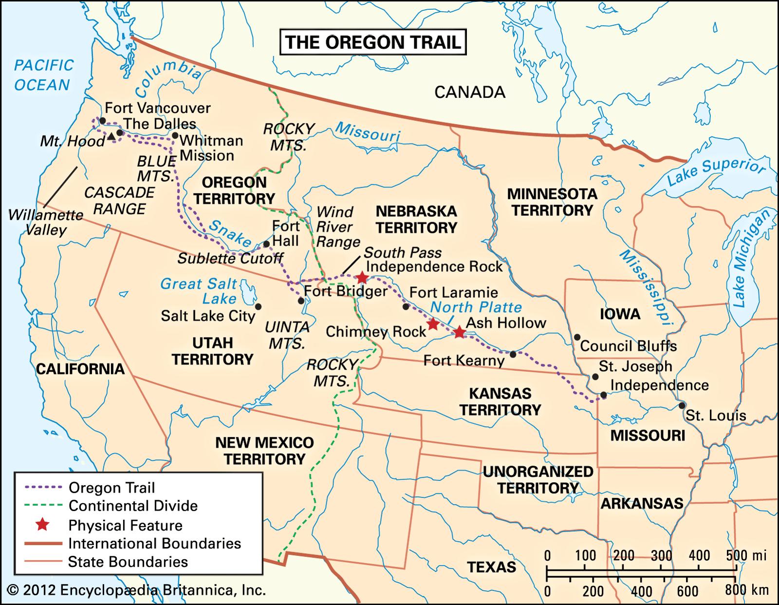 Oregon Trail Definition History Map Facts Britannica