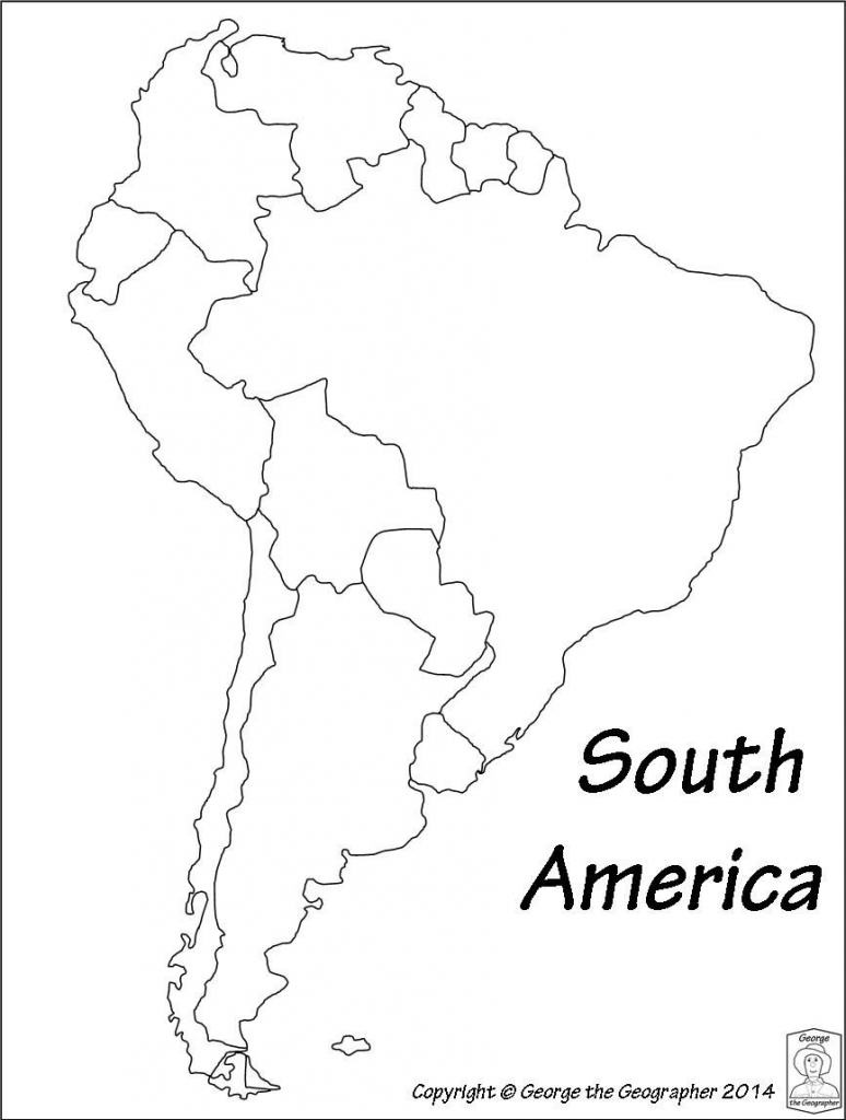 Outline Map Of South America Printable With Blank North
