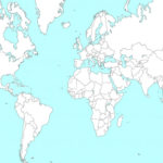 Outline Map Of World Wallpapers Wallpaper Cave