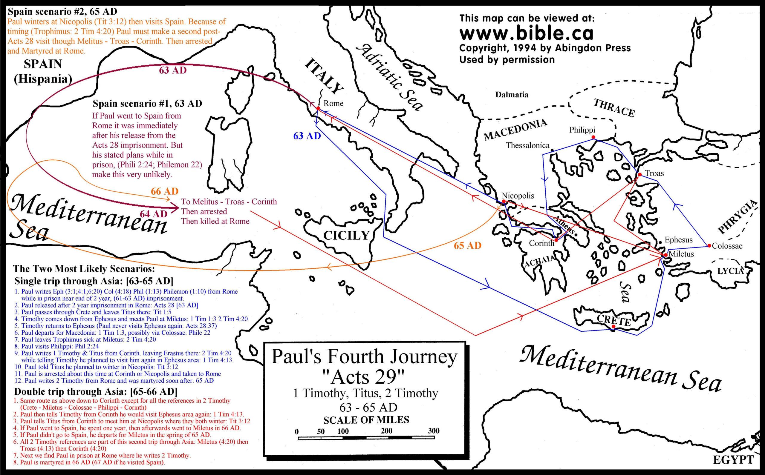 Pauls Fourth Journey Map