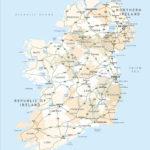 Political Map Of Ireland Royalty Free Editable Vector