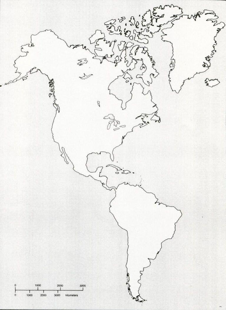 Printable Blank Map Of Western Hemisphere Diagram With X