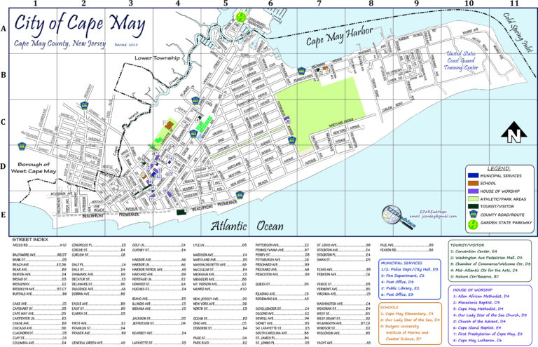 Printable Cape May Map