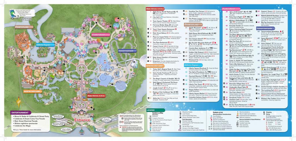 Printable Magic Kingdom Map 2017 Printable Maps