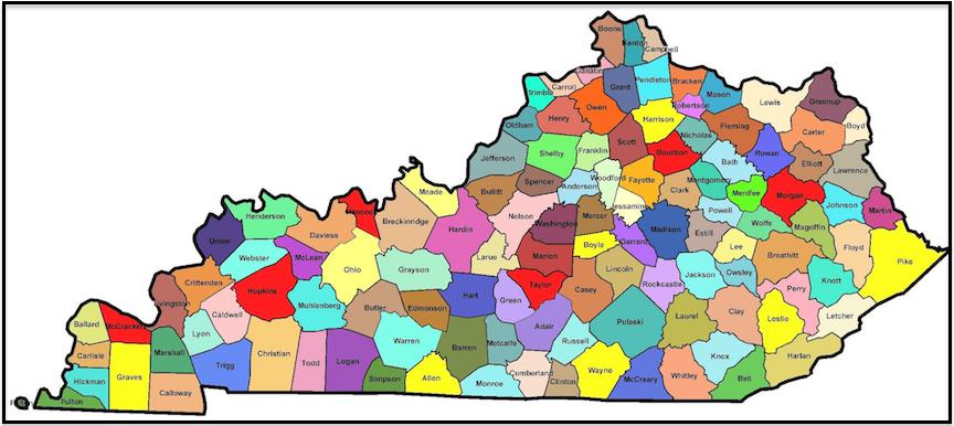 Printable Map Of Kentucky