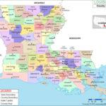 Printable Map Of Louisiana Parishes