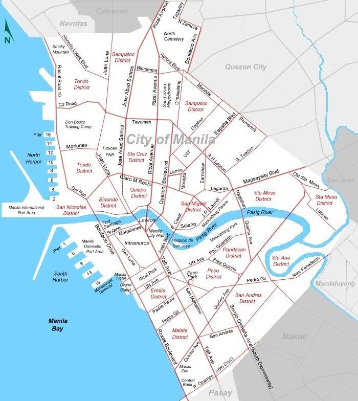 Printable Map Of Metro City Map Of Metro Manila Maps